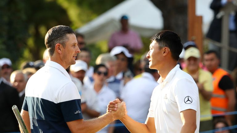 Haotong three-putted from eight feet on the first extra hole