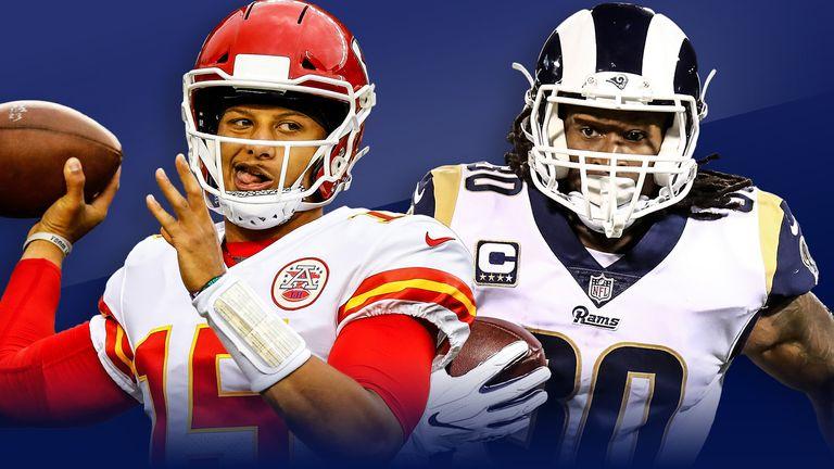 Kansas City Chiefs and Los Angeles Rams meet on Monday Night Football