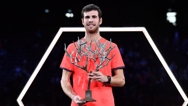 Karen Khachanov follows in the footsteps of hero Marat Safin as a Paris Masters champion