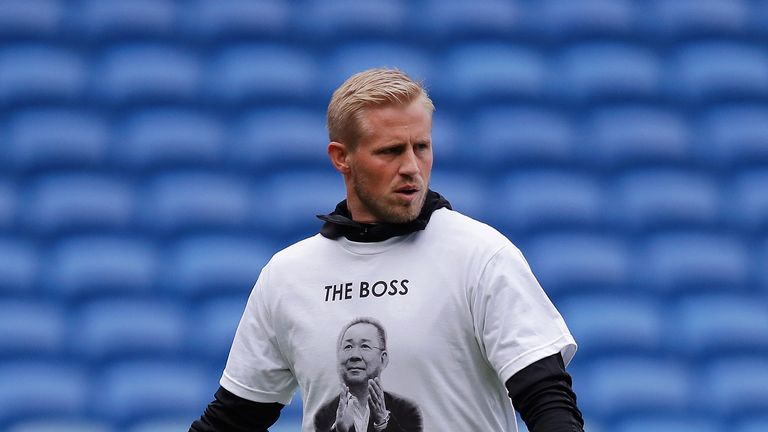 Leicester players wore tribute T-shirts during their warm-up