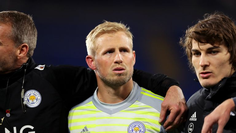 Kasper Schmeichel witnessed the helicopter crash which claimed five lives outside the King Power Stadium