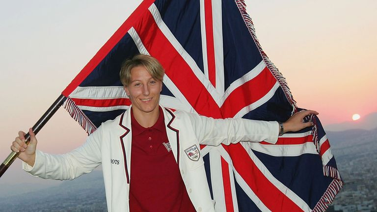 Howey was the British flagbearer at the opening ceremony of Athens 2004