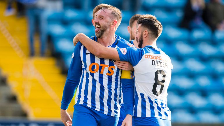 Kris Boyd celebrates after giving Kilmarnock the lead