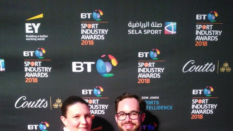Kirsty Clarke and Robbie de Santos collected the Sport Industry Awards' Campaign of the Year prize for Rainbow Laces in April, on behalf of Stonewall and TeamPride