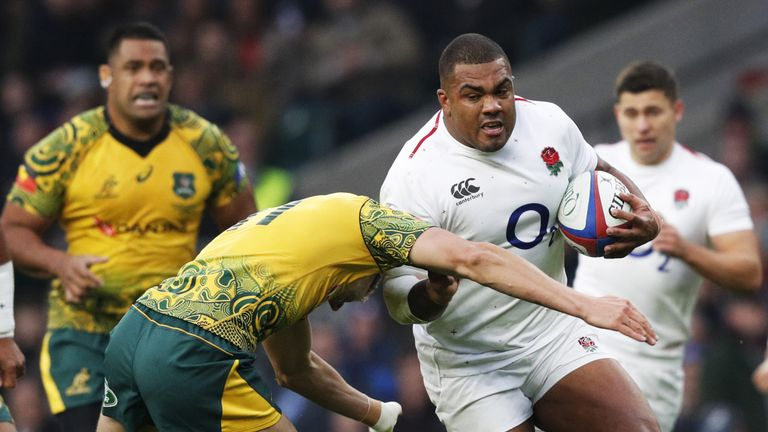 England's prop Kyle Sinckler in action during the Quilter International match against Australia at Twickenham