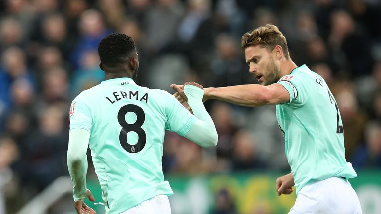 Jefferson Lerma headed Bournemouth back into contention against Newcastle