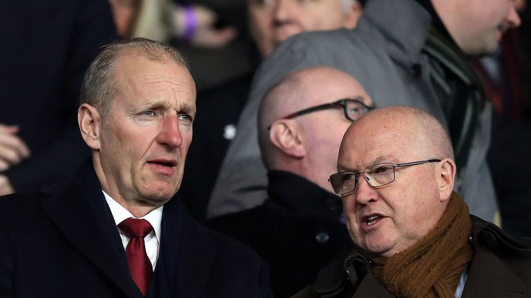Les Reed (right) with Southampton chairman Ralph Krueger