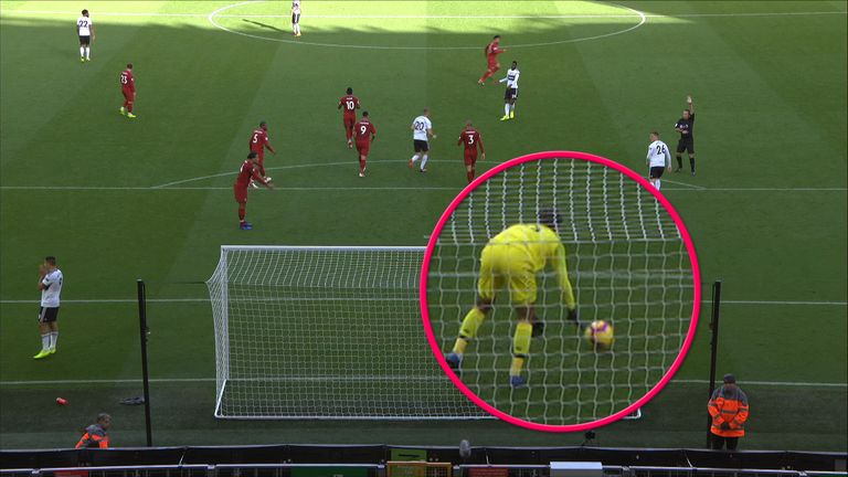 Was the ball moving before Liverpool No 1 Alisson rolls it out to launch the break that led to Mo Salah's opener at Anfield on Sunday?