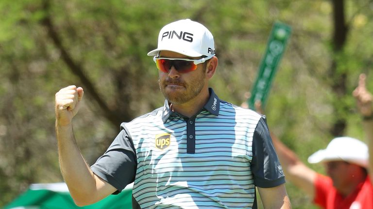 Louis Oosthuizen looked on course for victory around the turn