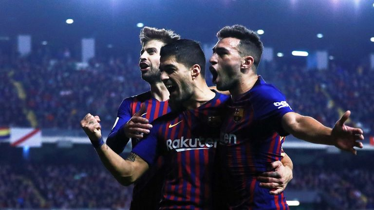 Barcelona scored two goals in the final few minutes to earn the win