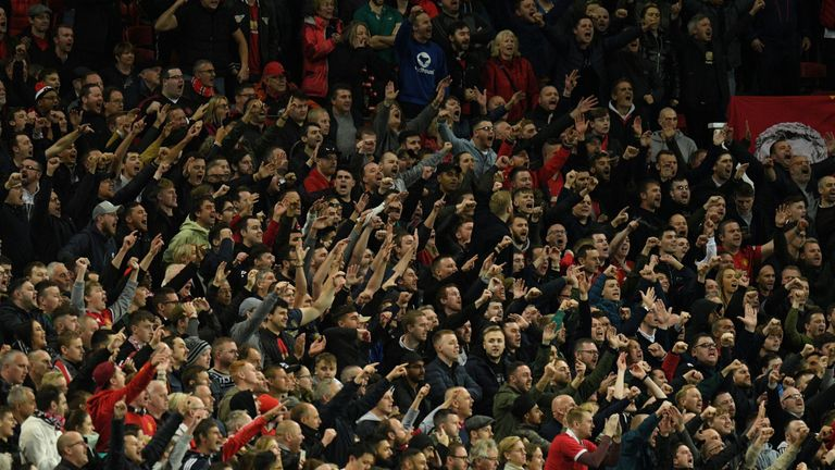 Manchester United fans at Old Trafford, but Luke Shaw says the fear factor has gone