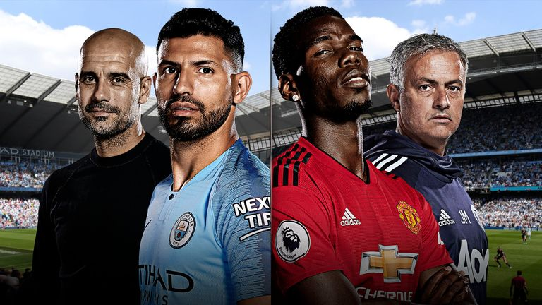 Manchester City face Manchester United on Sunday