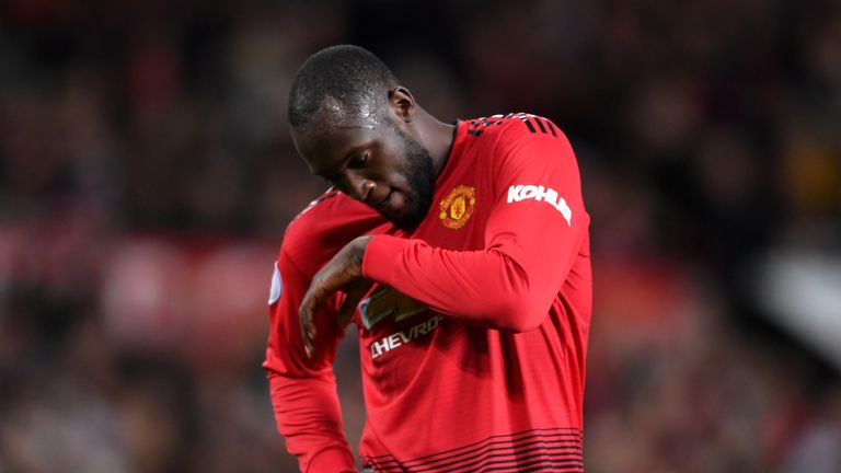 Romelu Lukaku picked up an injury in a training session on Friday