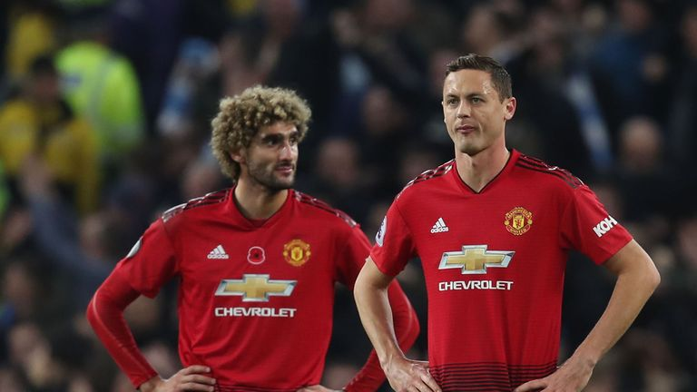 Marouane Fellaini, Nemanja Matic are among the midfielders to have clocked up more minutes than Ander Herrera