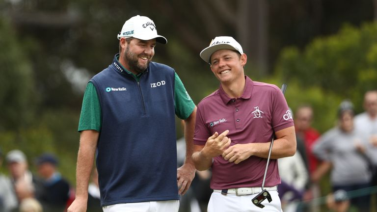 Smith (right) played alongside Marc Leishman in Melbourne last week