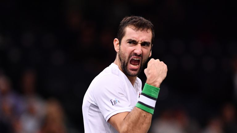 Djokovic reaches Paris Masters quarterfinals; Cilic wins