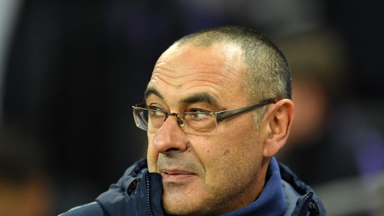 Maurizio Sarri's Chelsea are currently third in the Premier League