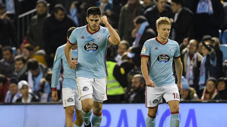 Maxi Gomez scored twice for Celta Vigo
