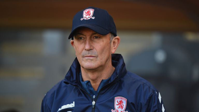 Tony Pulis' Middlesbrough side have struggle for form in recent weeks
