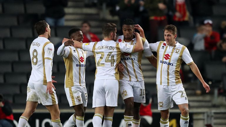 MK Dons moved top of Sky Bet League Two