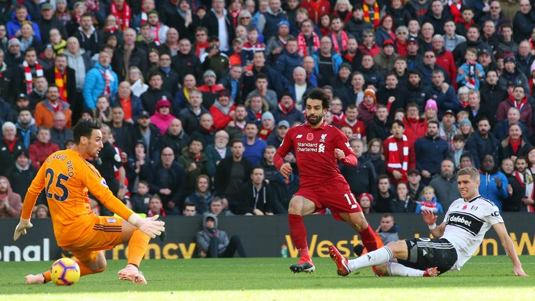 Mohamed Salah scored Liverpool's opener against Fulham last time out