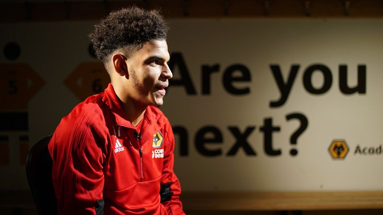 Gibbs-White is an inspiration for others at the Wolves academy
