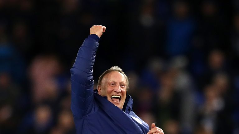 Warnock was delighted to see his side climb out of the Premier League bottom three