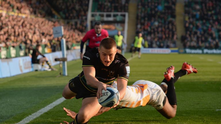 Ollie Sleightholme was one of five try scorers as Northampton beat Wasps