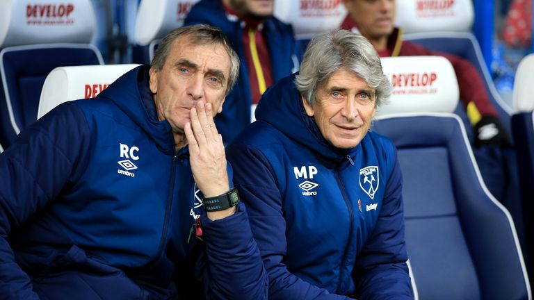 Manuel Pellegrini was happy with a point after West Ham's 1-1 draw with Huddersfield
