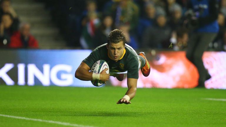 Handre Pollard scored 18 of South Africa's 26 points in the win over Scotland