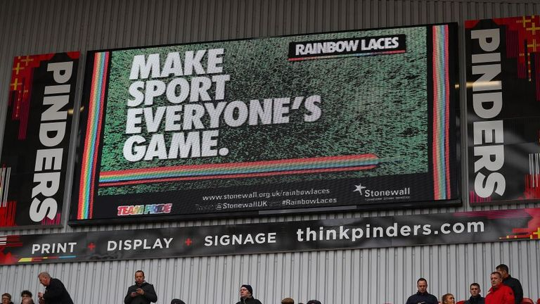 The New York Stadium scoreboard as seen during Rotherham's draw with Sheffield United