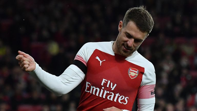 Aaron Ramsey registered two assists in the North London Derby