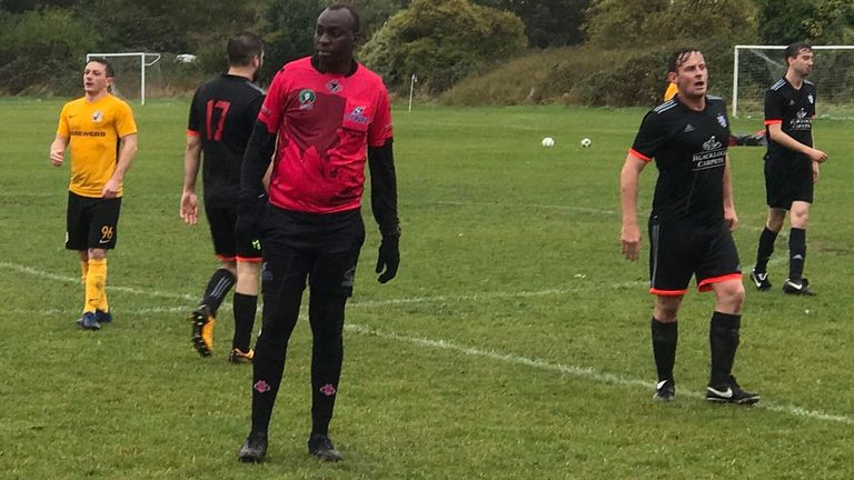Mashamba's experience as a referee is greatly valued by London Titans FC and the league's other teams (Titans photos by Joe Raynes and Dan Nouveau)