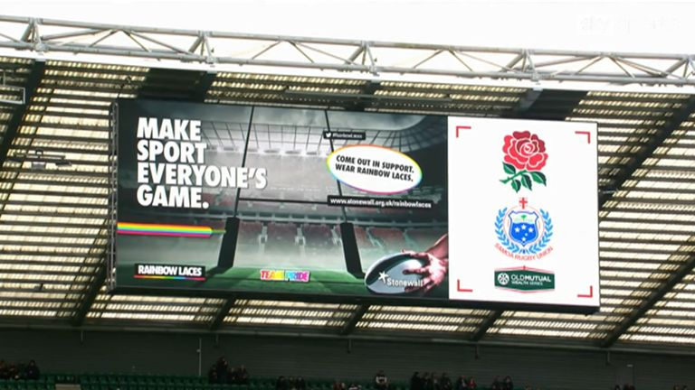 Rainbow Laces was activated by England Rugby at Twickenham during the England vs Samoa match in November 2017