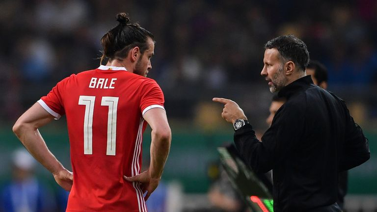Wales manager Ryan Giggs is pleased to have Wales top-scorer Gareth Bale in the squad.