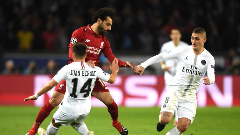 Mohamed Salah could find no way through in Paris
