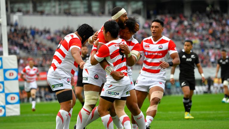 Samuela Anise scored an early try to put Japan in front