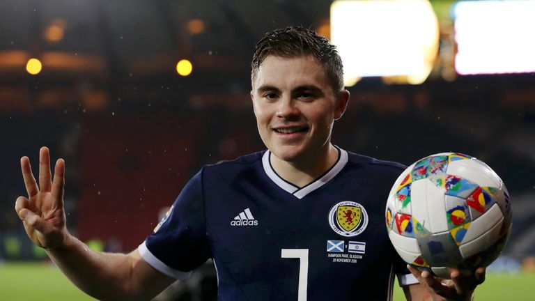 James Forrest's three goals for Scotland confirmed their Pot 3 status
