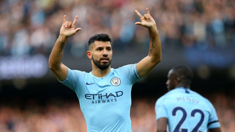 Sergio Aguero put Manchester City 2-0 up
