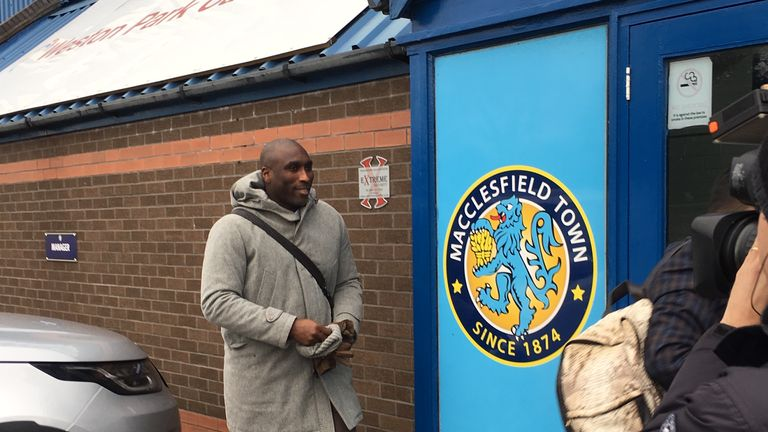Sol Campbell was announced as the new manager of Macclesfield on Tuesday afternoon