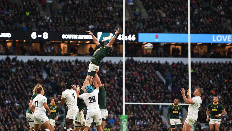 South Africa lost four critical lineouts in Saturday's Test match