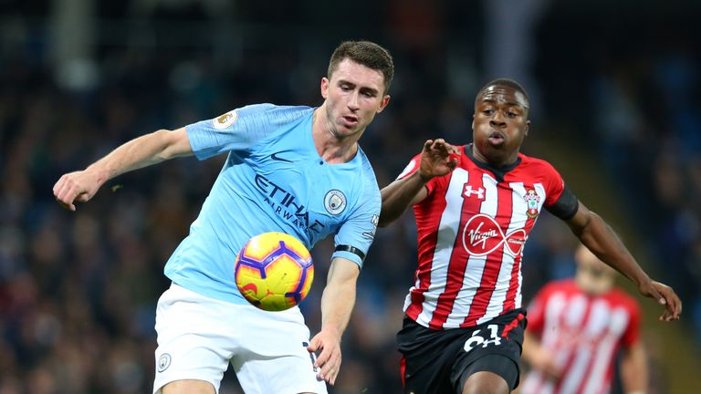 Michael Obafemi came on as a substitute in Southampton's 6-1 defeat to Manchester City