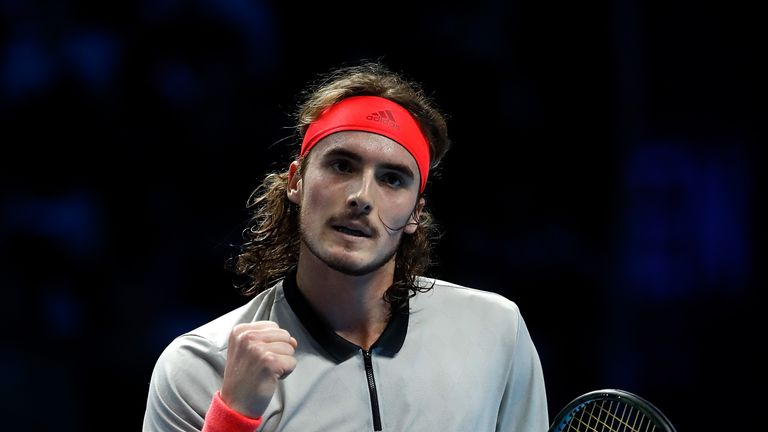 Stefanos Tsitsipas defeated Frances Tiafoe to move clear in Group A