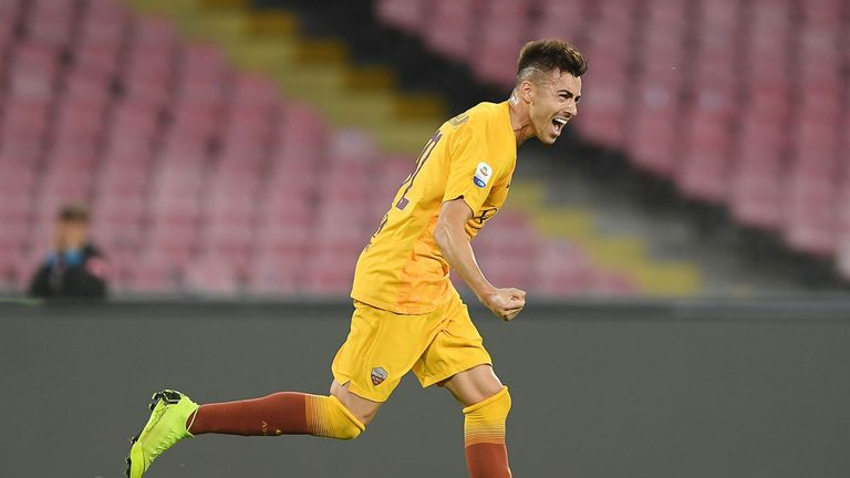 Stephan El Shaarawy's brace helped Roma to a convincing win