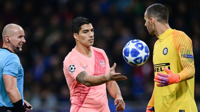 Samir Handanovic was in superb form against Barcelona