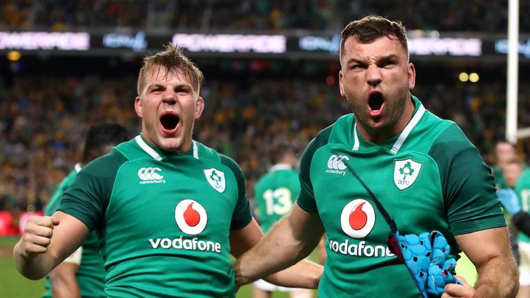 Tadhg Beirne starts at lock in one of three changes to Ireland's starting XV