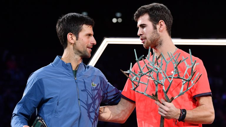Djokovic had initially secured a first-set break advantage before Khachanov stormed back
