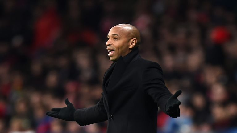 Thierry Henry was suspended by Monaco on Thursday