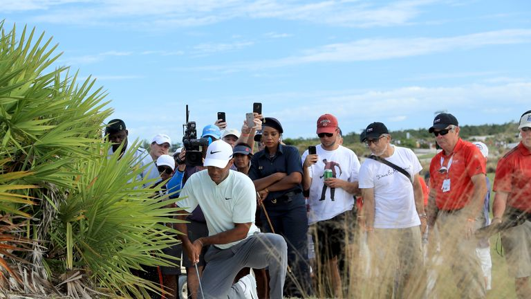 Tiger Woods was at the centre of a rules controversy in the Bahamas