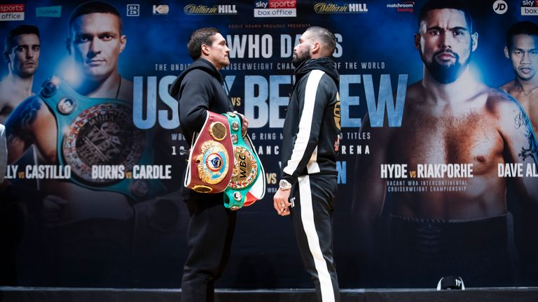 Tony Bellew challenges Oleksandr Usyk for all the world cruiserweight belts